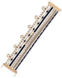 Lucky Brand - Blue Gold-tone Navy Lucky Layer Bracelet - Lyst