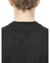 Givenchy | Black Columbian Destroyed Cotton T-shirt for Men | Lyst