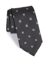 John W. Nordstrom | Black 'lambert Neat' Medallion Silk Tie for Men | Lyst