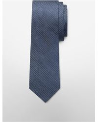 Calvin Klein | Blue White Label Steel Micro Dot Tie for Men | Lyst