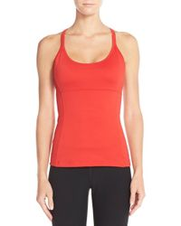 Alo Yoga | Red 'lotus' Bra Tank Top | Lyst