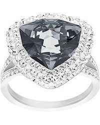 Swarovski | Black Begin Ring | Lyst