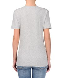 Love Moschino - Gray Short Sleeve T-shirts - Lyst