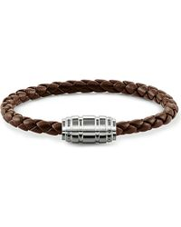Thomas Sabo | Brown Unity Plaited Leather Branded Clasp Bracelet | Lyst