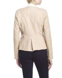 Love Token - Natural Mitchell Faux Leather Jacket - Lyst