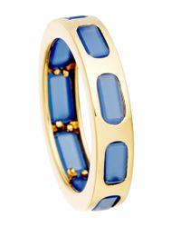 Astley Clarke - Metallic Gold-plated Agate Prismic Slice Ring - Lyst