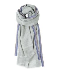 Toast | Gray Selvedge Scarf | Lyst