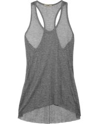 Helmut Lang | Gray Voltage Fine-knit Ribbed Micro Modal Tank | Lyst