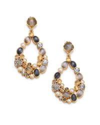 kate spade new york | Metallic Bashful Blossom Statement Teardrop Earrings | Lyst