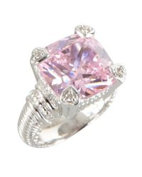 Judith Ripka - Metallic Pink Crystal And Diamond 'Fontaine' Ring - Lyst