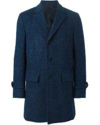 Z Zegna - Blue Single Breasted Short Coat for Men - Lyst