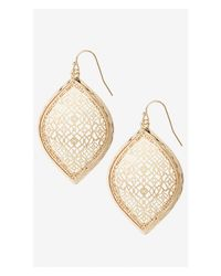 Express | Metallic Filigree Teardrop Dangle Earrings | Lyst