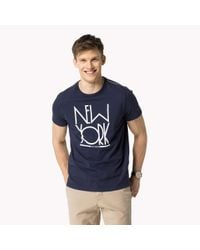 Tommy Hilfiger | Blue Cotton Regular Fit T-shirt for Men | Lyst