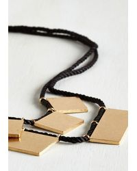 Ana Accessories Inc | Black My Geo My Necklace In Gold Rectangles | Lyst