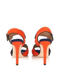 Chrissie Morris - Multicolor Ida Suede And Leather Sandals - Lyst