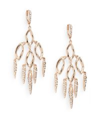 Alexis Bittar | Metallic Elements Phoenix Swarovski Crystal, Iolite & Labradorite Doublet Chandelier Drop Earrings/two-tone | Lyst