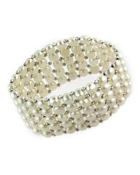 Effy | White Freshwater Pearl And Sterling Silver Bracelet | Lyst