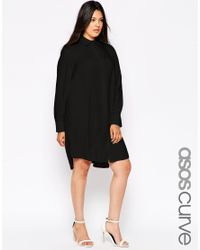 ASOS   Black Curve Shirt Dress With Pocket   Lyst