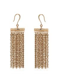 Lanvin | Metallic Fringed Chained Earrings | Lyst