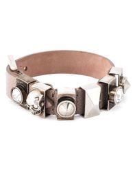 Alexander McQueen | Pink Embellished Skull Bracelet | Lyst