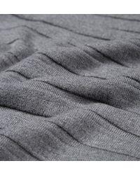 Sunspel | Gray Men's Fine Merino Jumper With Textured Stripe In Mid Grey Melange for Men | Lyst