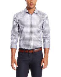 BOSS - Gray 'ridley' | Slim Fit, Cotton Vichy Button Down Shirt for Men - Lyst