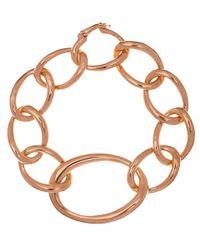 Dinny Hall | Pink Rose Gold Vermeil Toro Link Bracelet | Lyst