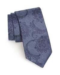 Ted Baker | Blue Paisley Silk Tie for Men | Lyst