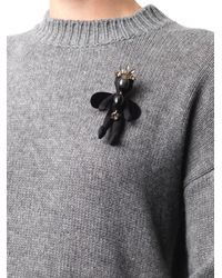 Marni | Black Winged Doll Brooch | Lyst