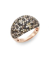 Effy | Metallic Final Call 3.7 Tcw Diamond & 14k Rose Gold Dome Ring | Lyst