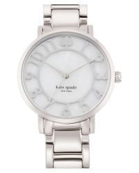 kate spade new york | Metallic 'gramercy' Mother-of-pearl Bracelet Watch | Lyst