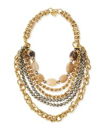 Ashley Pittman | Multicolor Johari Bronze & Pyrite Multi-strand Necklace | Lyst
