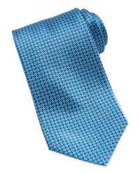 Stefano Ricci - Blue Micro-flower Silk Tie for Men - Lyst
