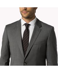 Tommy Hilfiger | Gray Wool Fitted Suit for Men | Lyst