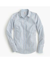 J.Crew - Blue Collection Thomas Mason Club-collar Shirt In Dress Stripe - Lyst