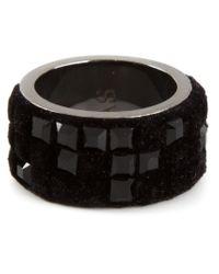 Atelier Swarovski | Black Small Viktor & Rolf 'velvet Rock' Ring | Lyst