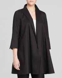 Eileen Fisher - Black Three Quarter Sleeve Jacket - Lyst