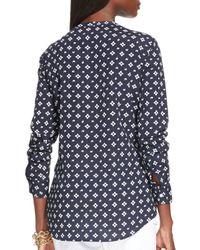 Ralph Lauren | Blue Lauren Split Neck Tunic | Lyst