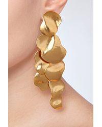 Herve Van Der Straeten - Metallic Hammered Gold-Plated Vibrations Earrings - Lyst