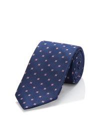BOSS - Blue 'tie 7.5 Cm'   Regular, Silk Pin Dot Tie for Men - Lyst