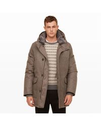 Club Monaco - Brown Woolrich Cashmere Parka for Men - Lyst