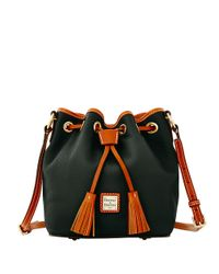 Dooney & Bourke | Black Kendall Leather Crossbody Bucket Bag | Lyst