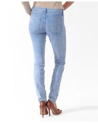 Forever 21 | Blue Life In Progress™ Colored Destroyed Skinny Jeans | Lyst