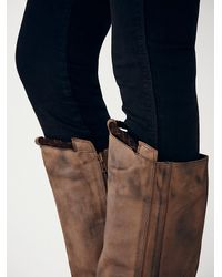 Free People - Gray Tritone Tall Boot - Lyst