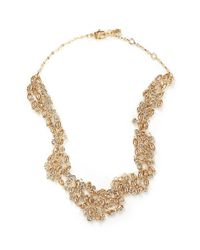St. John | Metallic 'night Bloom' Laurel Crystal Collar Necklace | Lyst