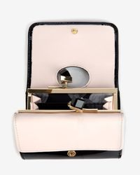 Ted Baker - Black Small Patent Crystal Frame Purse - Lyst