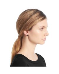 COACH | Blue Cushion Cut Stud Earrings | Lyst