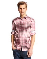 Kenneth Cole | Red Modern Fit Ombre Plaid Sportshirt for Men | Lyst