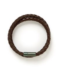 Tateossian - Brown 'chelsea' Double Wrap Braided Bracelet for Men - Lyst