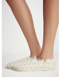 Free People | White Lemons + Womens Snowcaps Slipper Sock | Lyst